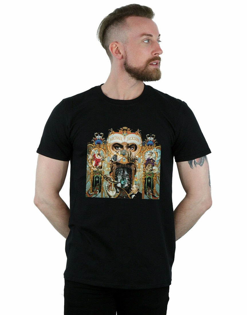 Michael Jackson MenS Dangerous Album Cover T-Shirt Harajuku Hip Hop Tee Shirt
