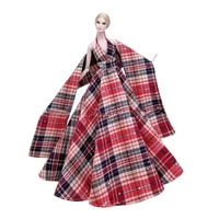 16 classic red plaided wedding party gown outfits for barbie clothes princess dresses vestidos 11 5 bjd dolls accessories toys