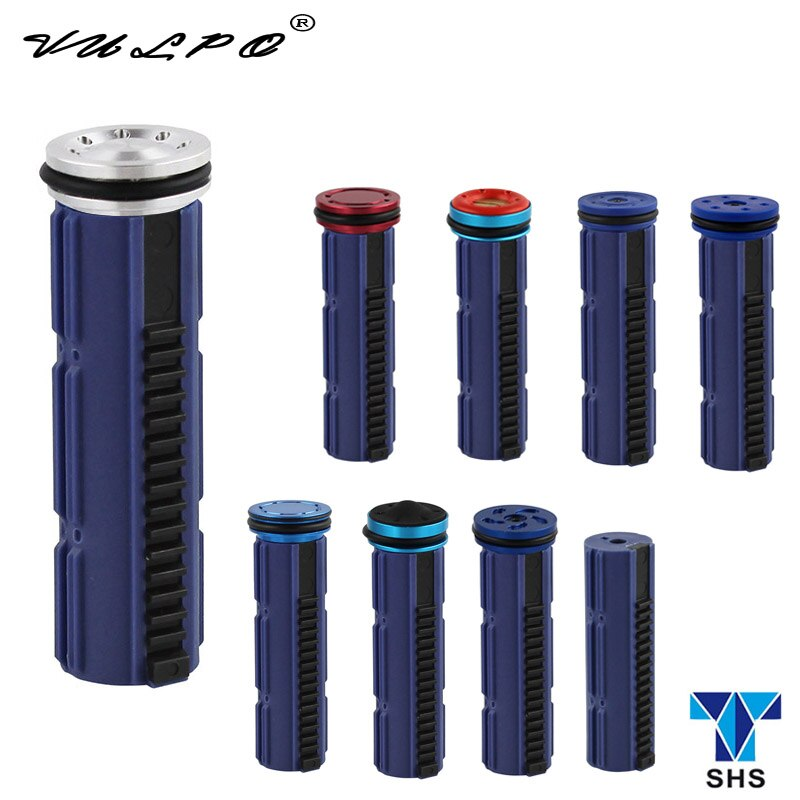 Conjunto de 15 dientes de acero VULPO SHS/pistón y cabeza de pistón para caja de cambios Airsoft AEG Ver.2/3