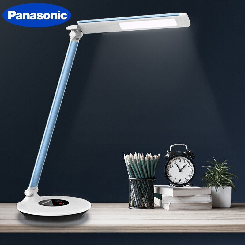 Panasonic Table Desk Lamp Student Reading Light LED Stepless Dimming Light Flexible Modern Office Home Table Light