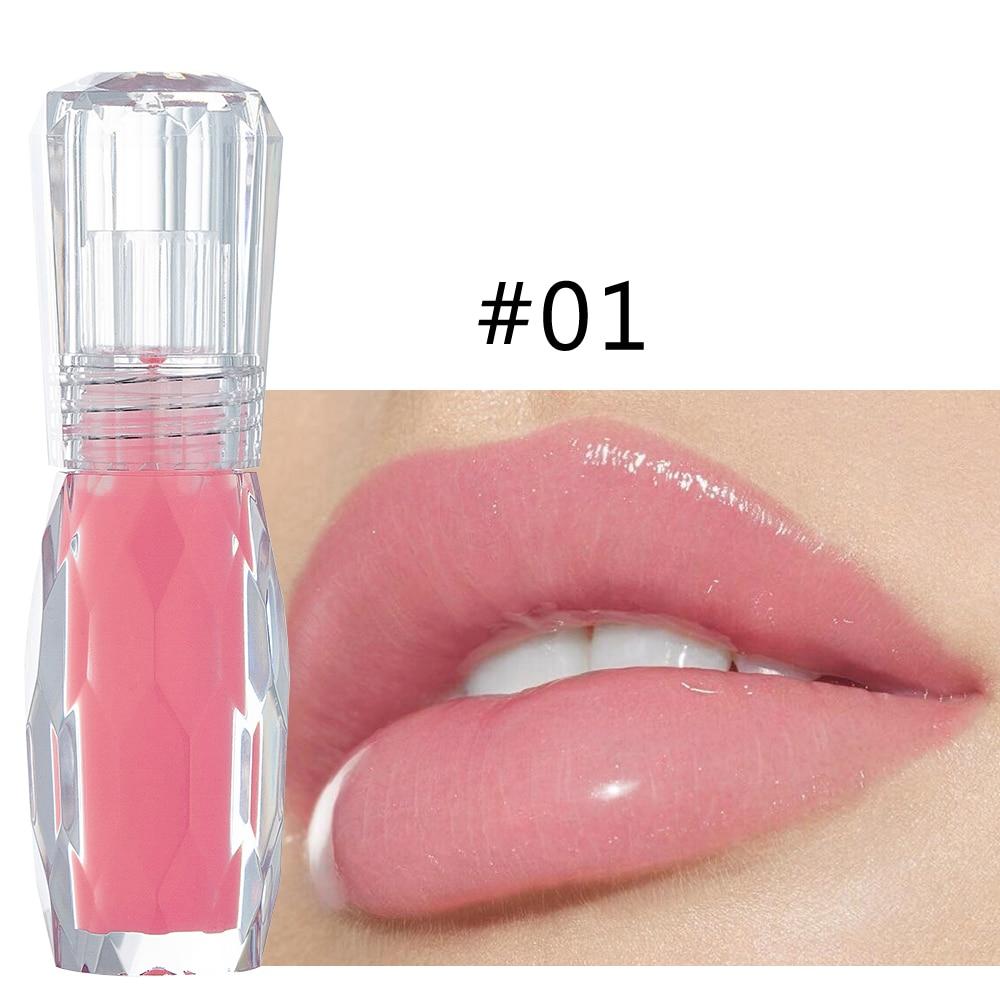 HANDAIYAN Natural Mint Lip Gloss sexy 3D Crystal Jelly Color Lip tint Moisturizing Long Lasting Liquid Lipstick 24 Hours TSLM1