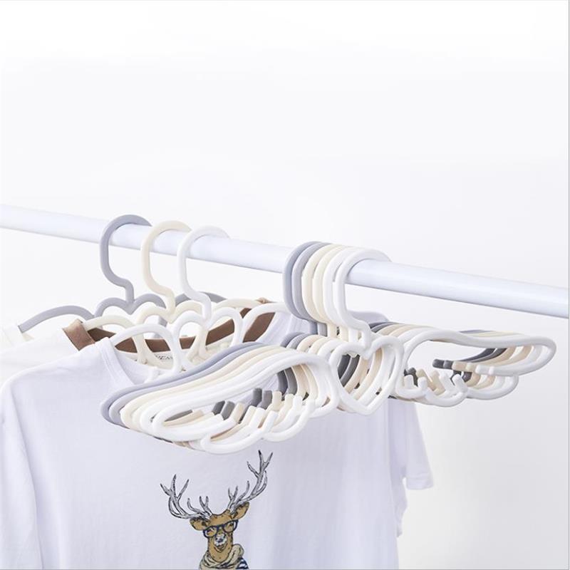 5 pcs/lot Angel wings Clothes Hangers Children Adult Shirt Trouser Coat Hanger Clothes Multifunction Non-Slip Accessories Rack