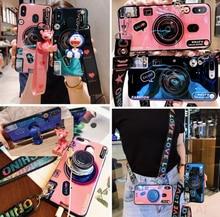 Korea BlueRay Camera Case For Huawei V30 9X 20 Pro 10 Lite View 20 Nova 6 SE 5i Mate 30 Pro Soft Cover With Holder Lanyard Case