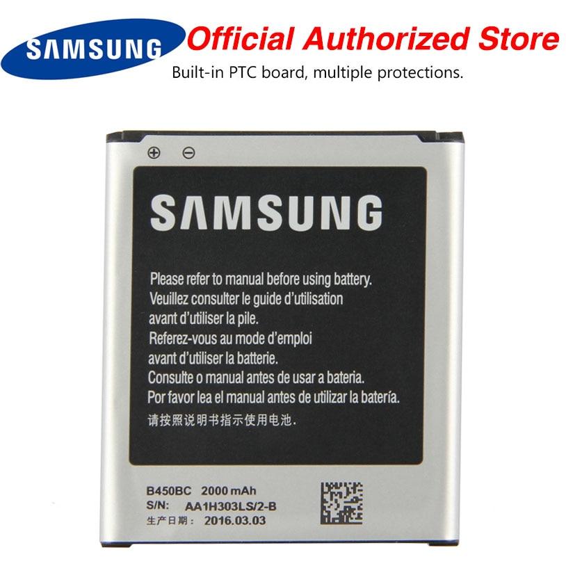 Original Samsung B450BC Battery For GALAXY Core 4G SM-G3518 G3518 G386F G3568V G3568V Mobile Phone 2