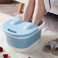 foot wash tub with lid sauna soaking foaming massage bucket pedicure foot bath basin portable foldable footbath hot