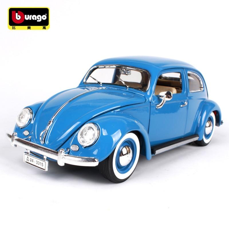 burago 1/18 Beatles 1955 Car model Metal Diecast 1:18 Classic toy cars