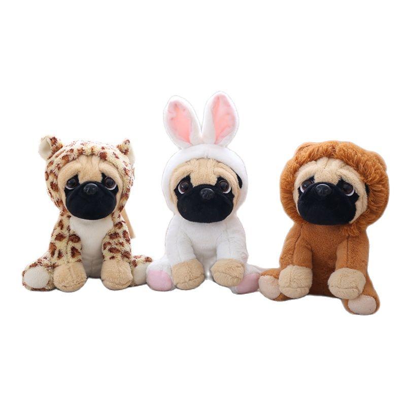 20cm New Year Gift Wearing Hat  Shar Pei Dog Transfiguration Of Animal Doll Novelty Creative Kids St