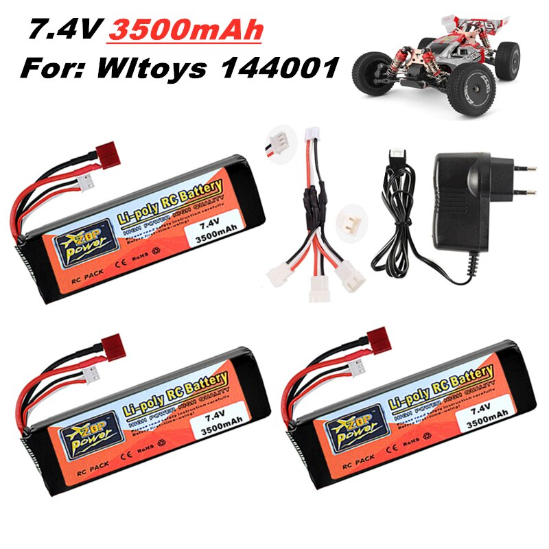 Original Wltoys 144001 2s 7.4 V 3500mAh Lipo battery upgraded rechargable for Wltoys 1/14 144001 RC car boat Lipo battery 1-5PCS