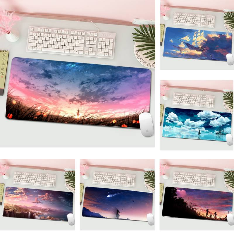 sky scenery Rubber Mouse Durable Desktop Mousepad L Large Gamer Keyboard PC Desk Mat Computer Tablet Gaming Mouse Pad