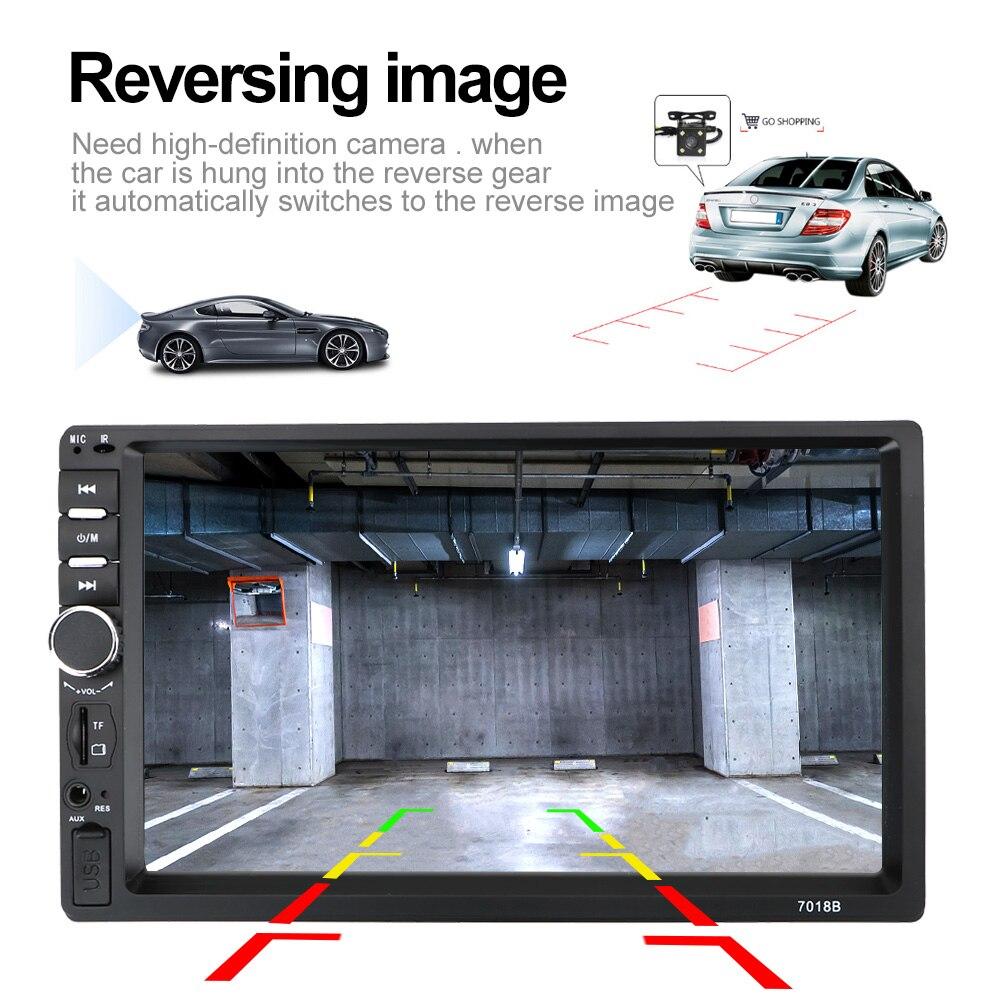 2Din Car Radio Player Car Reversing Display Touch Screen HD Multimedia Player 7010B /7012B/7018B Car 7