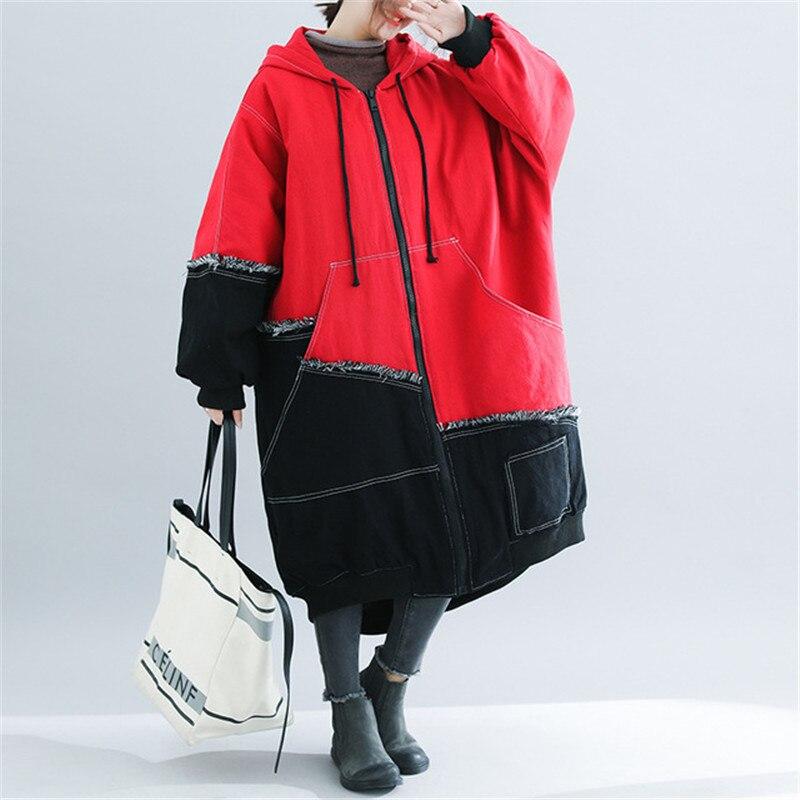 2021 новые модные женские Клубные сапоги Размеры d зимнее пальто-тренчи корейский большой Размеры куртки-парки, верхняя одежда для женщин Джинсовое пальто женское пальто XA106