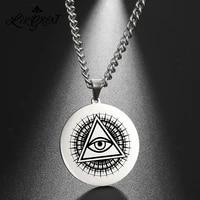 eye of horusra witchy talisman amulet pendant necklace illuminati masonic egyptian magical protection stainless steel necklaces