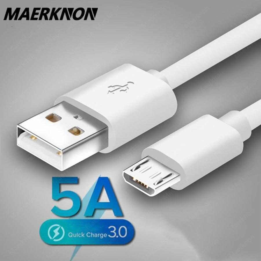 Cable Micro USB de carga rápida 5A para Samsung S7, Huawei, Xiaomi...