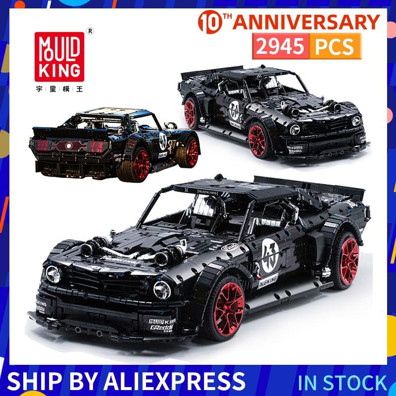 Ford bloques de construcción Mustang Hoonicorn Constructor, bloques de carreras de Control remoto, coches, bloques técnicos, juguetes para niños, regalo