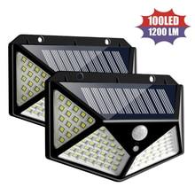 100 LED lumière solaire extérieur PIR capteur de mouvement mur lumière étanche lampe solaire SMD 2835 4-Side lumière LED pour jardin Yard