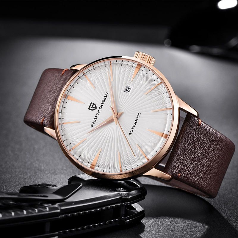 PAGANI DESIGN PD 2021 Men's Watch Classic Mechanical Leather Watches Men Seagull 2813 Automatic Wristwatch 100M Waterproof Clock enlarge