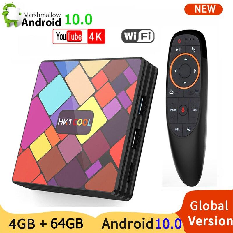 Андроид 10 Смарт ТВ коробка HK1 красивая обувь в 4K 4 ядра 32г 64Г WI FI Bluetooth Youtube Media Player