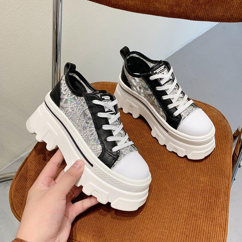 Zapatillas De deporte gruesas para Mujer, zapatos De plataforma a la moda...