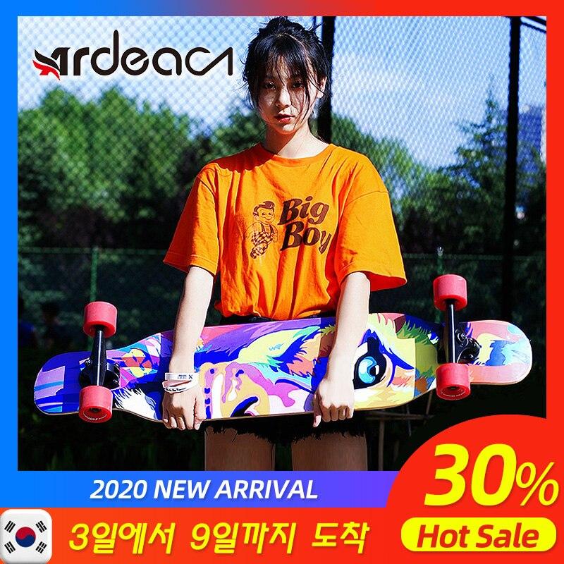 Ardea Skateboard longboard  Teenagers girl Russia Maple Natural Wood Retro fashion Flat-Plate Double Rocker skate boards