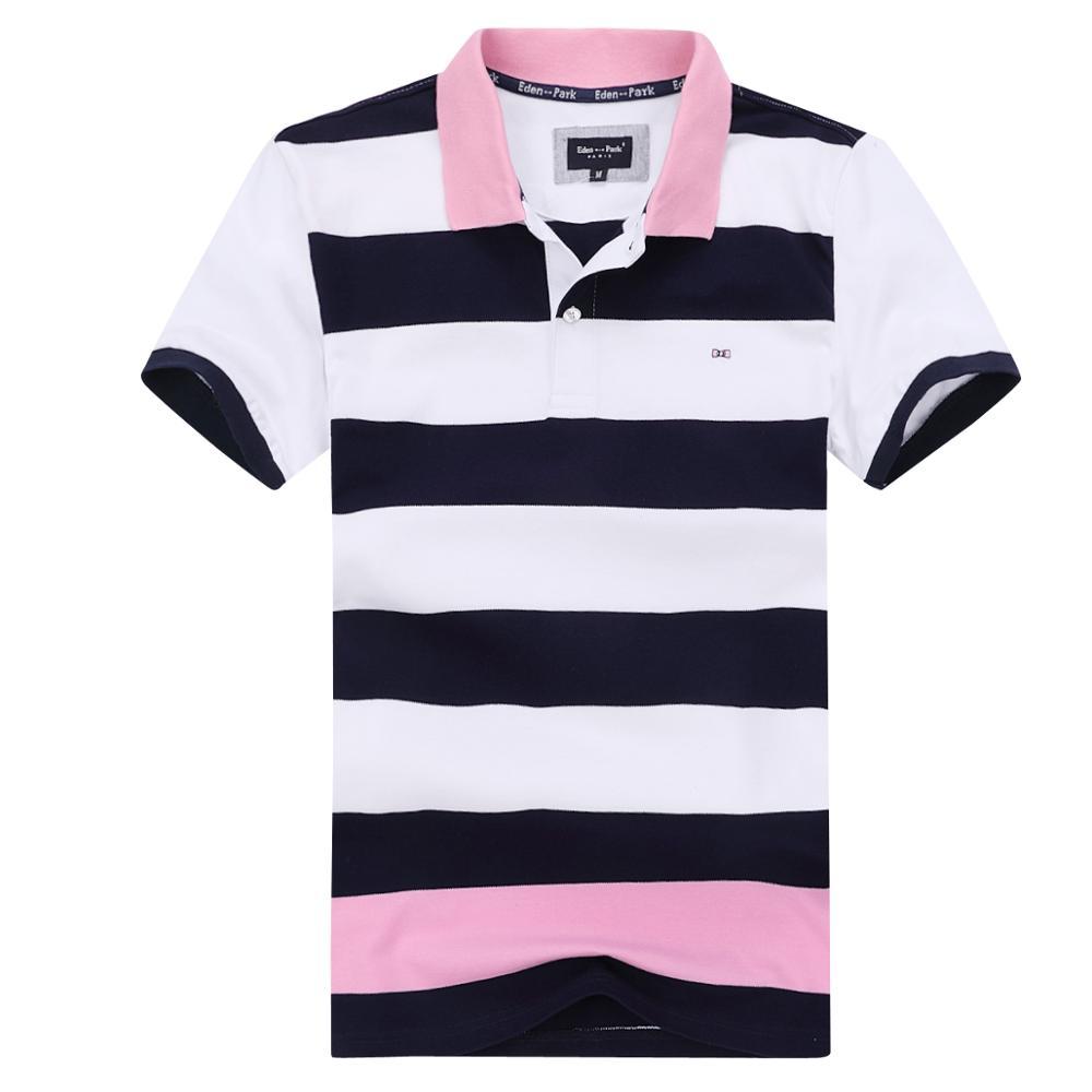 Global New Eden park HOMME Polo, дышащие хлопковые футболки в полоску с короткими рукавами, высокое качество, мужские футболки, размер M до 3XL