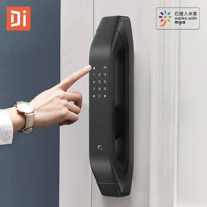 Promo XiaoDi Fully Automatic Smart Lock Q3 Alarm Notice APP Remotely / AI Fingerprint / Bluetooth-compatible / Password / Key Unlock
