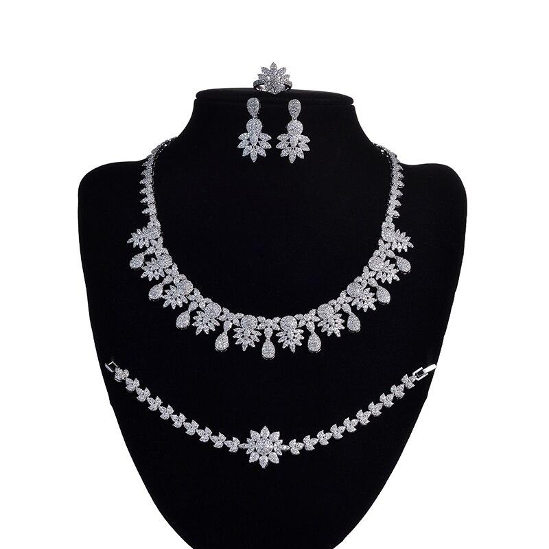 HADIYANA-طقم مجوهرات زركونيا للنساء ، طقم مجوهرات أنيق وساحر ، جودة عالية ، CNY0050