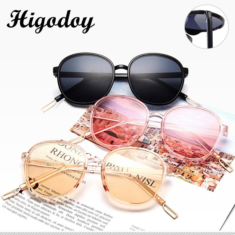 Женские винтажные солнцезащитные очки Higodoy, большие круглые очки в стиле ретро, роскошные женские солнцезащитные очки с защитой UV400