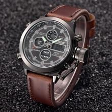 Mens Quartz Sport Military LED Watches Analog Stainless Steel Wrist Watch Automatic Luminous Clock M