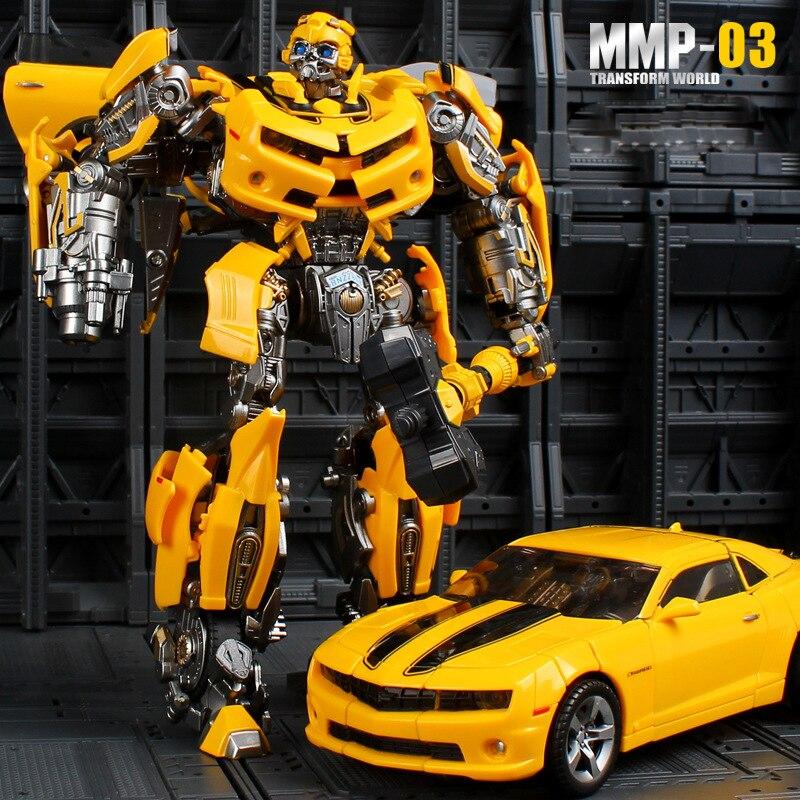 23cm YX Transformation MMP03 modelo Camaro bcumbleb cuchillas de batalla MPM03 pieza metálica figura de acción deformada coche Robot Hornet