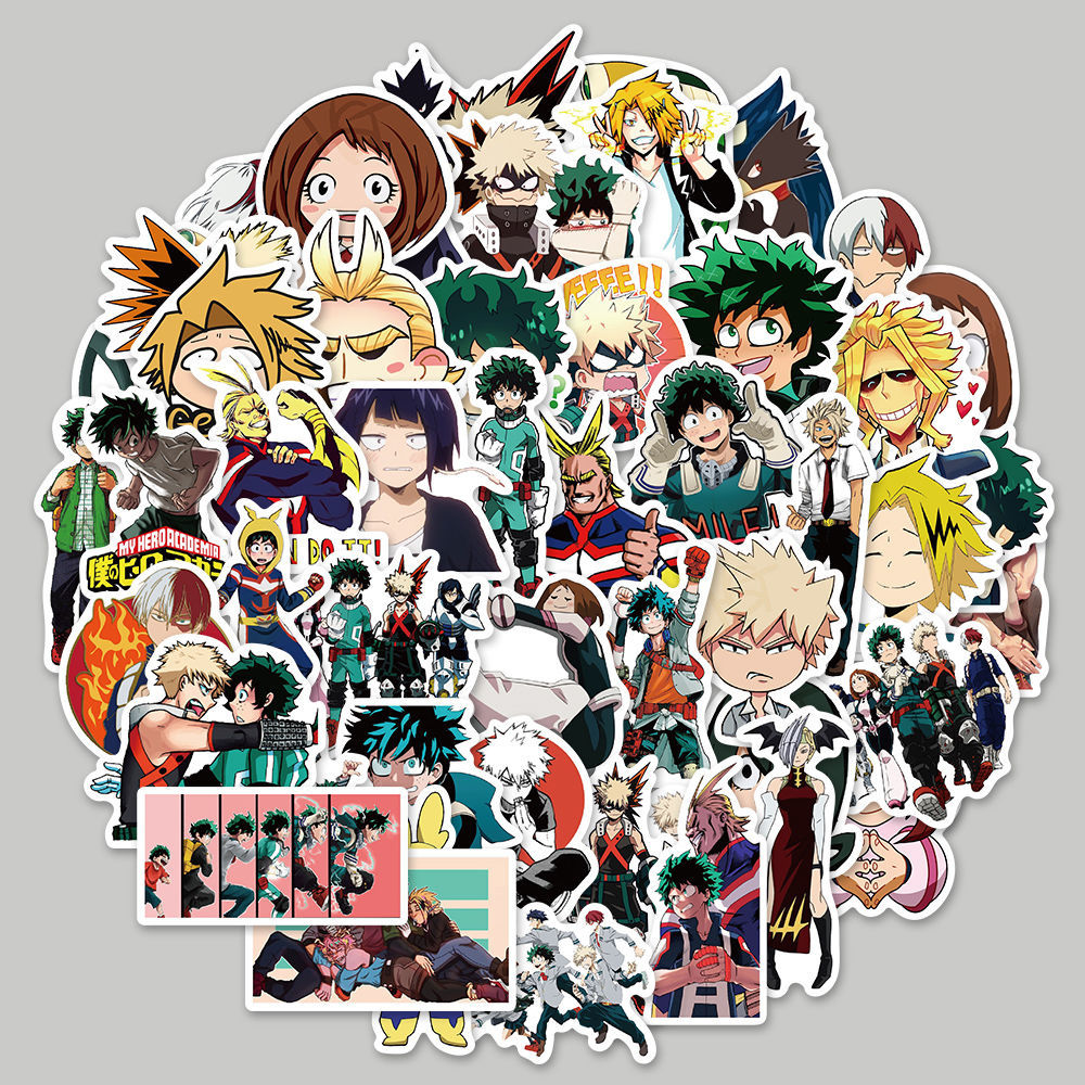 10/50PCS My Hero Academia Japan Anime Graffiti Stickers Cartoon Boy Laptop Funny Toy Cute Kawaii Girl Water Cup Book Gift Decals