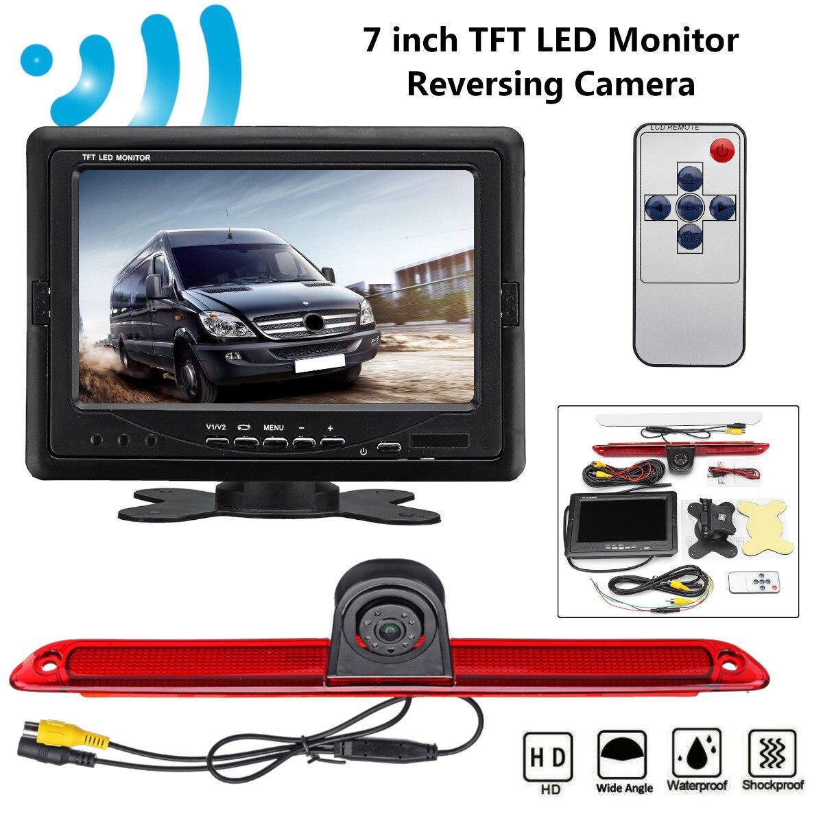 """Monitor LED TFT de 7 """", Cámara de marcha atrás de visión trasera, aparcamiento para mercedes-benz para Dodge Sprinter para VW Crafter 2006-2015"""