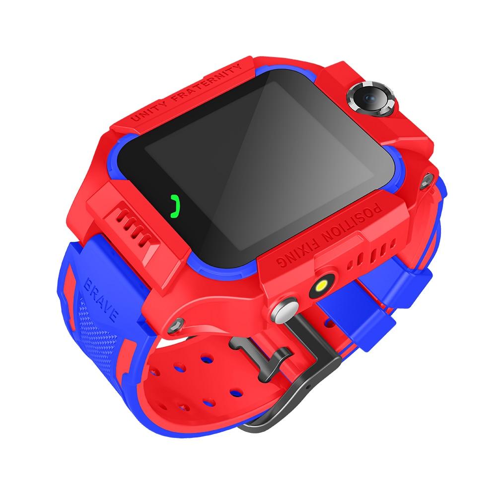 Relojes de pulsera de posicionamiento de juego SOS de dos vías con pantalla táctil antipérdida y resistente al agua para niños de 1,44 pulgadas