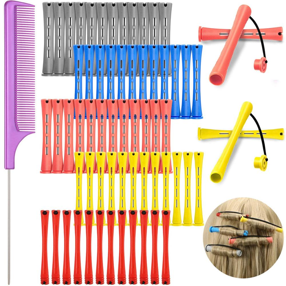 48 Pieces Hair Perm Rods Short Cold Wave Rods Plastic Perming Rods Hair Curling Rollers Curlers with