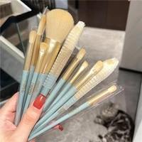 10pcs makeup brushes set highlighter foundation eyeshadow powder fiber brushes eye lip brushes blender cosmetic makeup tools