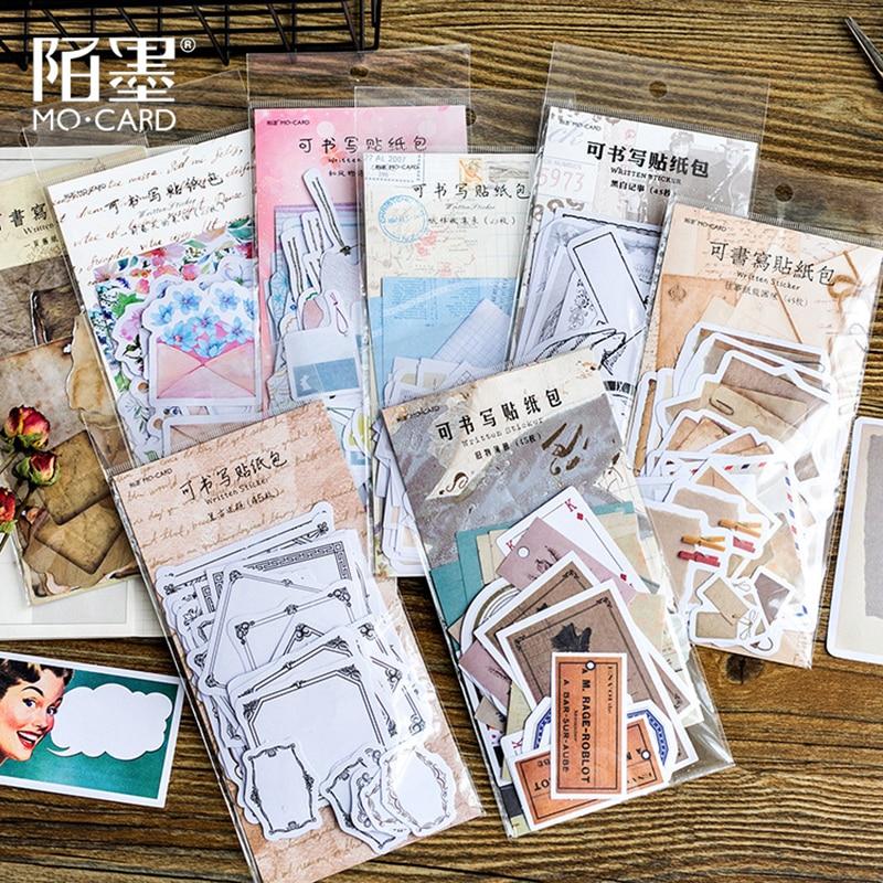 Набор стикеров для письма, 45 шт., клейкий блокнот для заметок наклеек
