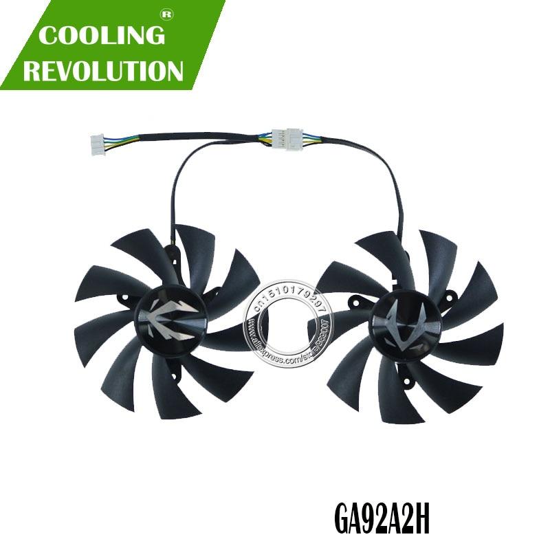 87MM GA92A2H DC12V 0.35A 4PIN graphics fan for Zotac GeForce RTX 2070 SUPER Mini 8GB ZT-T20710E-10M