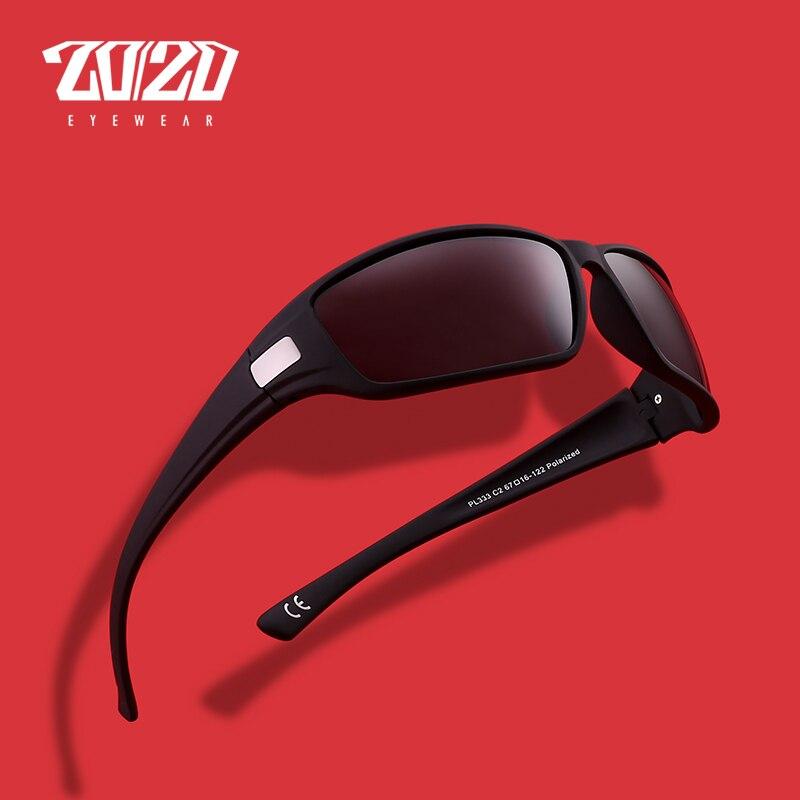 Gafas de sol polarizadas de diseño de marca óptica 20/20 para hombre, Gafas de sol de viaje a la moda para hombre, Gafas de sol polarizadas, Gafas de sol PL333 con caja