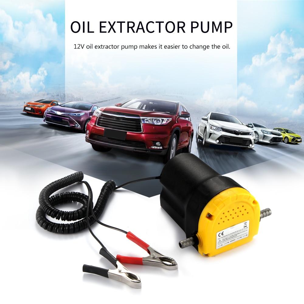 Allomn Auto Elektriciteit Olie Extractor Transfer Pomp 12V 5A Mini Brandstof Motorolie Extractor Transfer Pomp Voor Diesel Benzine