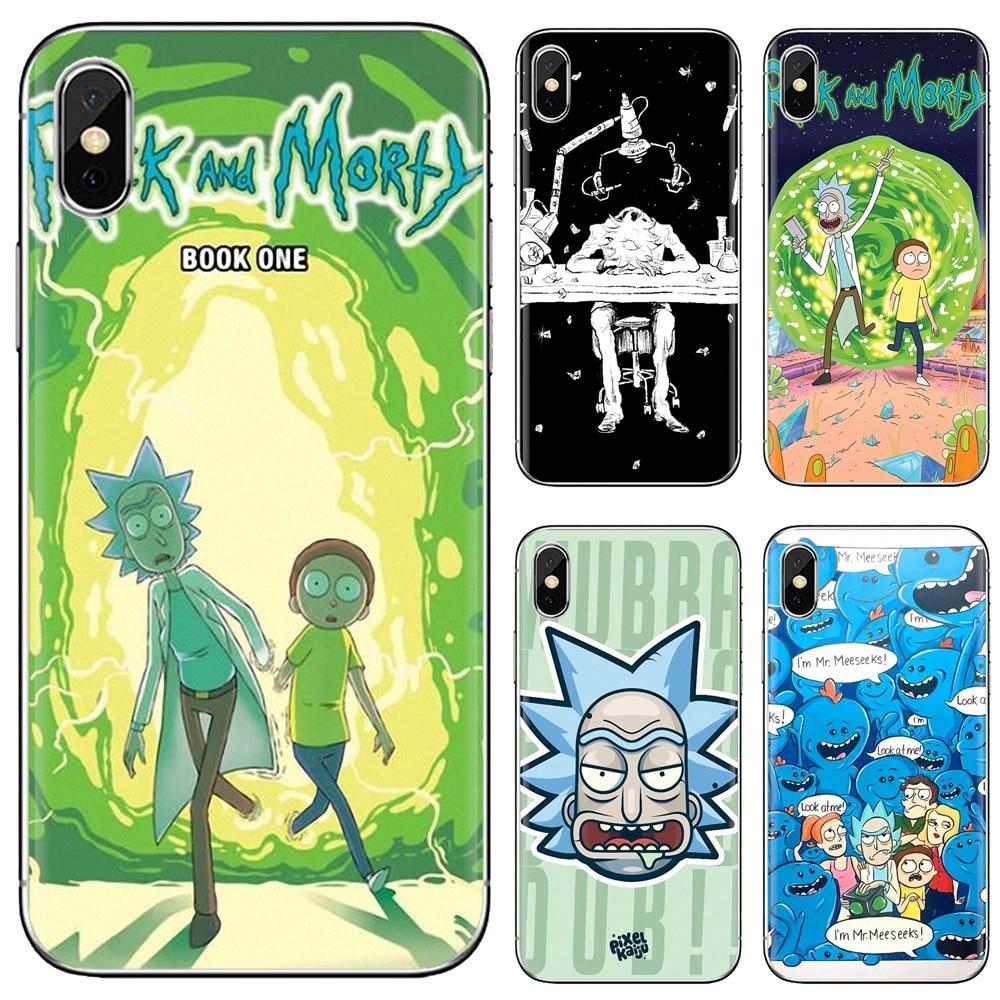 Rick and Morty Season Pastel Silicone Phone Case For Huawei Nova 2 3 2i 3i Y6 Y7 Y9 Prime Pro GR3 GR5 2017 2018 2019 Y5II Y6II