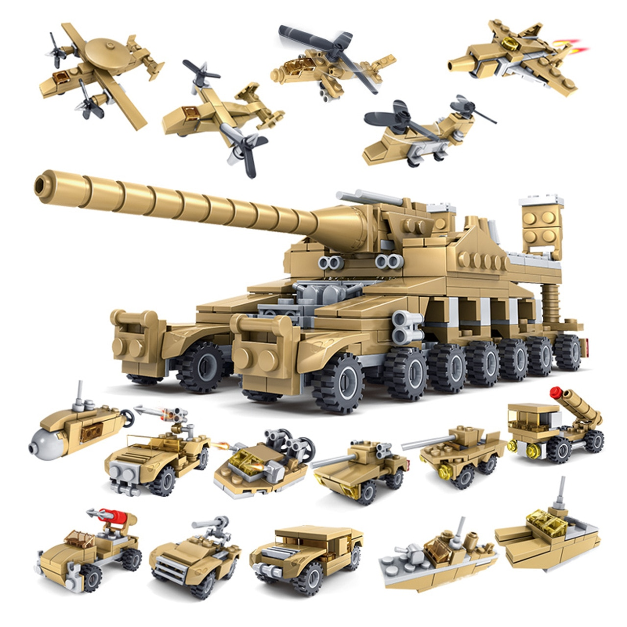 Modelo K Compatible con K84031 544 Uds. Modelos de Tanques militares bloques de construcción juguetes de Hobby para niños y niñas