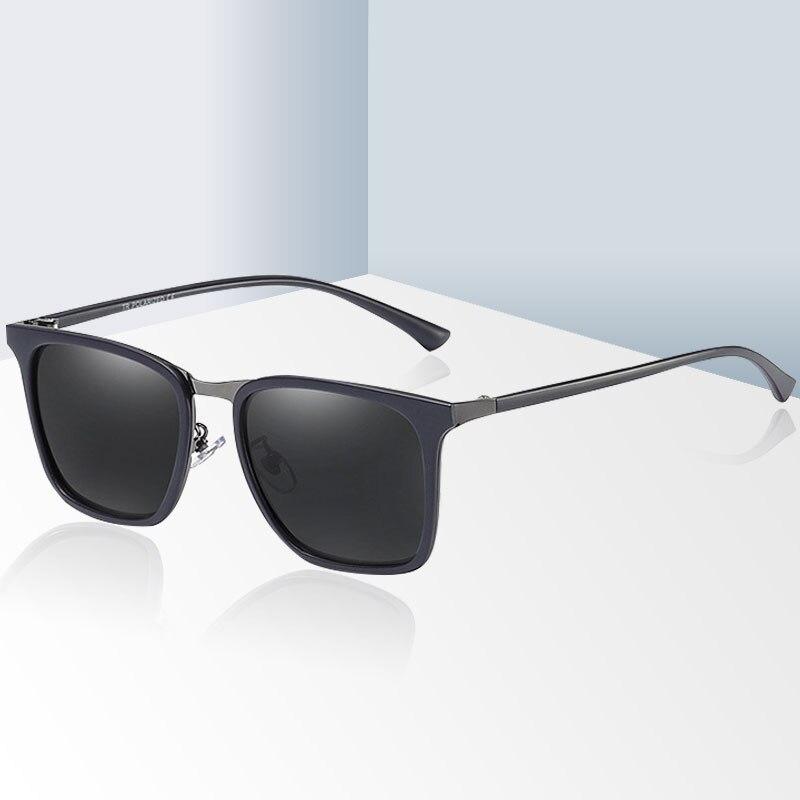 Gafas de sol Retro de marca de Marco de fibra de carbono para hombre, gafas polarizadas cuadradas para conducir, gafas de sol de policía para hombre