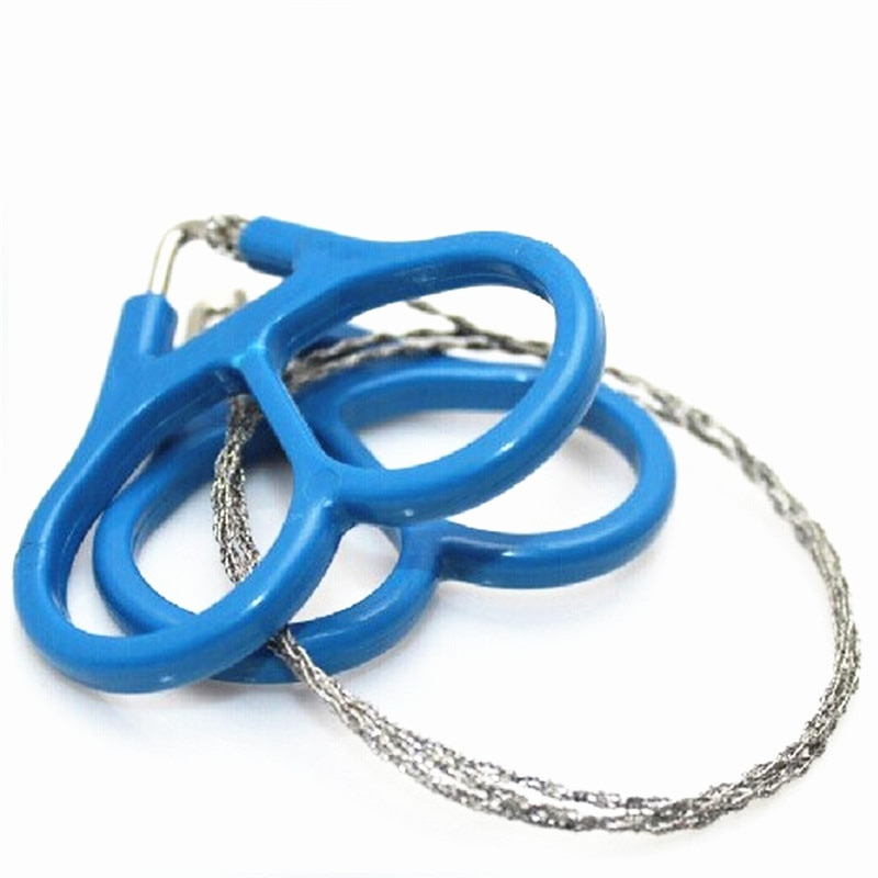 1PC Outdoor Practical Emergency Gear Stainless Steel Wire Saw Camping Hiking Manual Hand Steel Rope