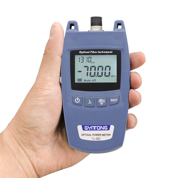 Мини портативный волоконно-оптический измеритель мощности TL520 FTTH SC FC ST универсальный разъем TL520 лазерный измеритель мощности волоконно-опт...