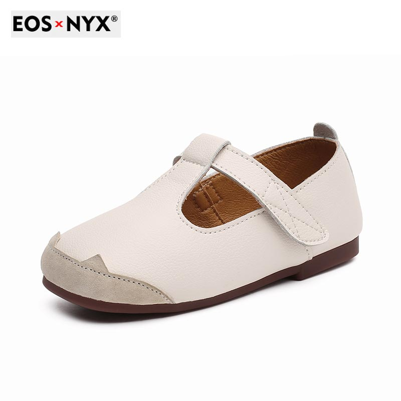 EOSNYX Hot Sale Girl Leather Shoes Casual Fashion Slip-on Kids Footwear Summer Quality Baby Shoes Bl