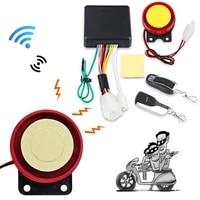 motorcycle bike anti theft smart alarm security alarm system 12v remote control key interior accessories car styling car keyring