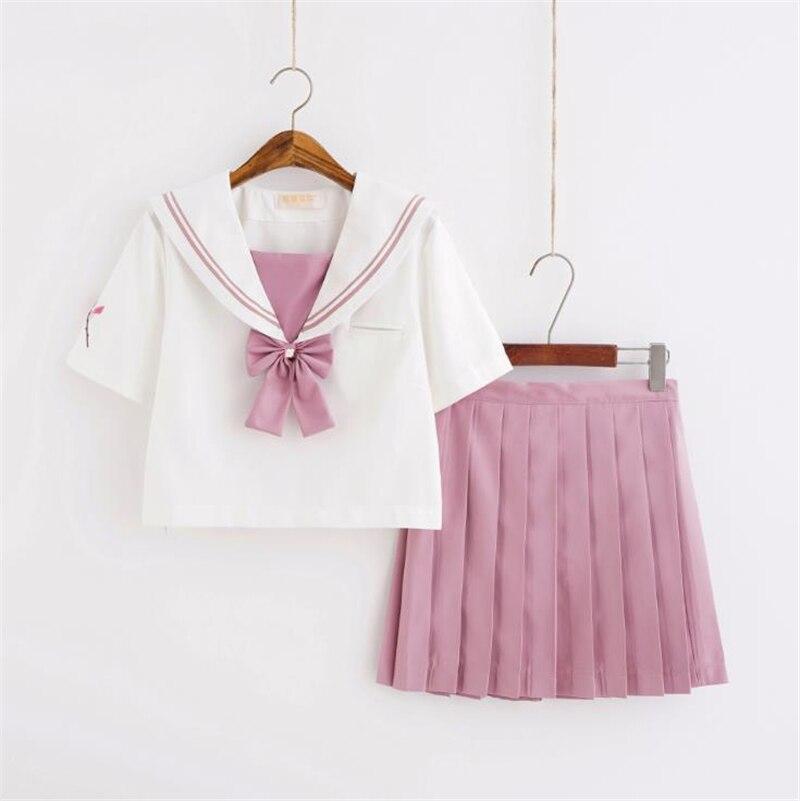 Traje de marinero japonés ortodoxo suave chica JK uniforme falda Cosplay estudiante traje Anime colegiala uniforme escolar personajes de película
