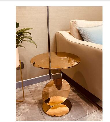 Minotti lado varios luz nórdica de lujo esquina simple mesa de salón creativo italiano diseño dorado redondo sofá mesa de noche