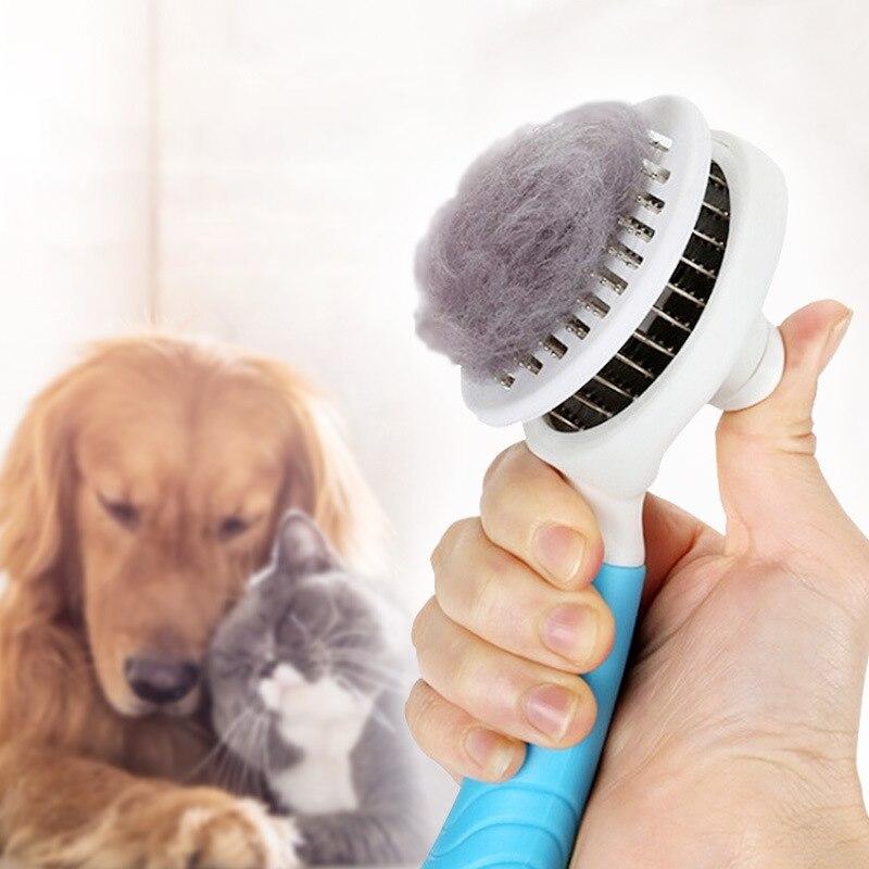 Cepillo de Gato para perros, productos para el cuidado de mascotas, cepillo quitapelusas automático, herramienta de limpieza, accesorios, 1 Uds