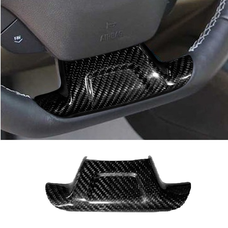 Fit For Chevrolet Camaro 2016 2017 Stick on Style Car Accessories Carbon Fiber Steering Wheel Trim Cover with/without Hole