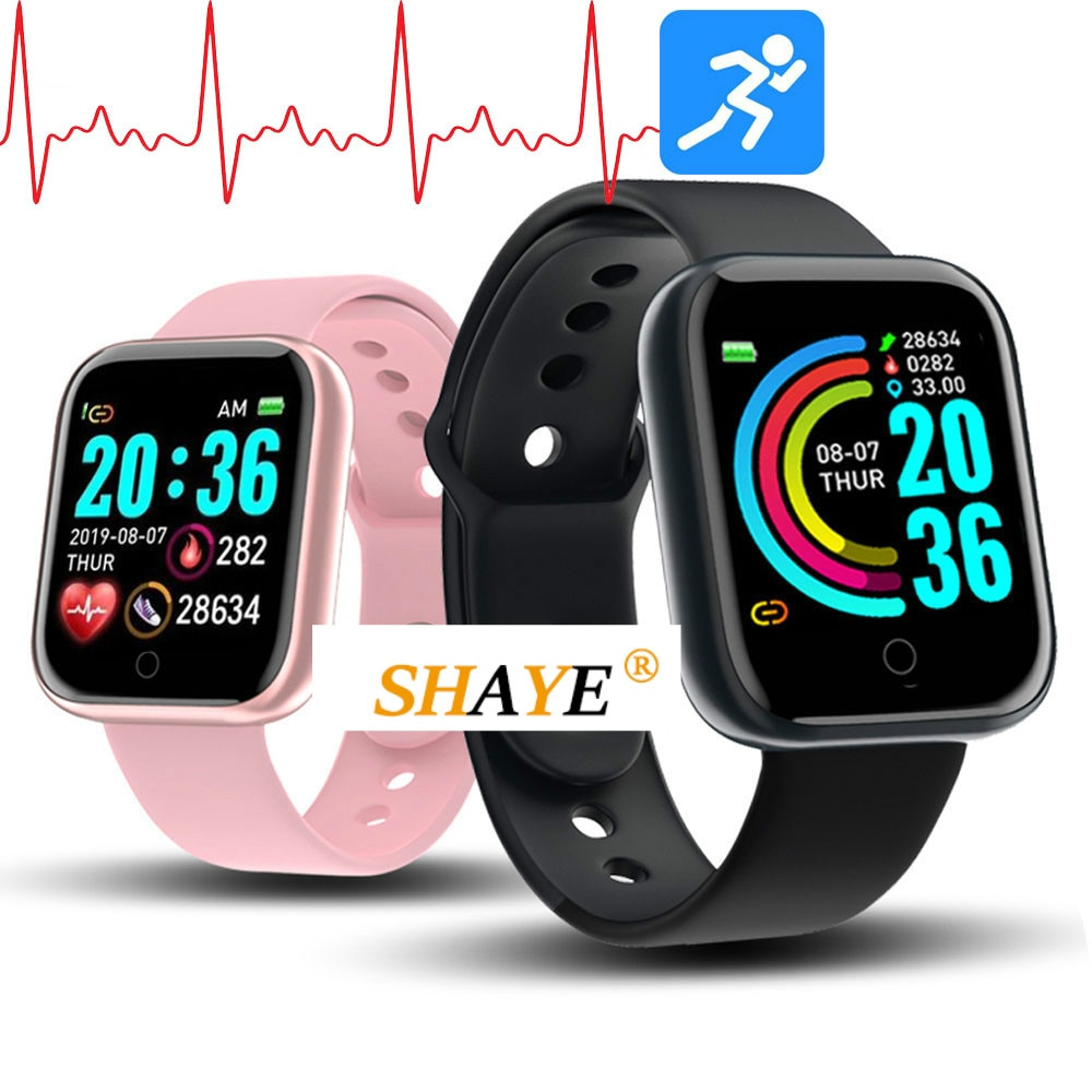 Y68 Smart Watch Women D20 Pro Men Smartwatch for Apple IOS Android Heart Rate Monitor Blood Pressure Sports Tracker Wristband